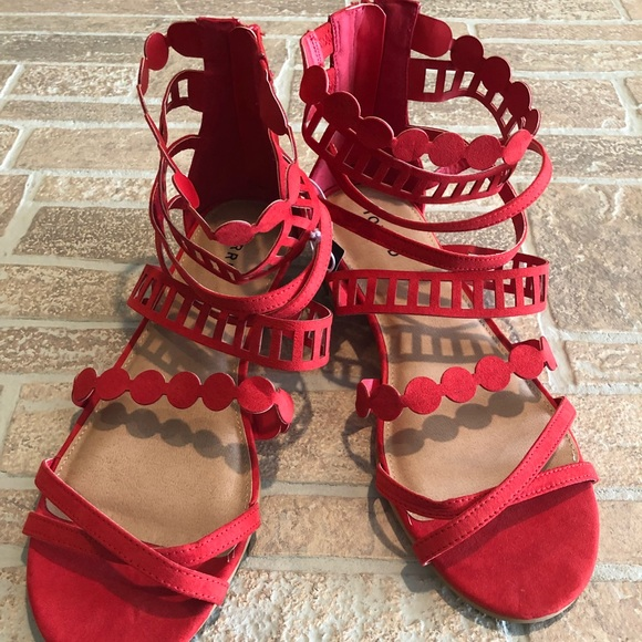 Red Gladiators 12 Womens Sandals   Poshmark